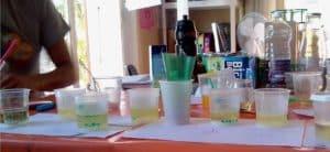 Etude de paramètre de l'expérience lampe lave, mélange huile, bica, vinaigre