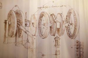 """Exposition """"projets, dessins, machines"""" de Léonard De Vinci"""
