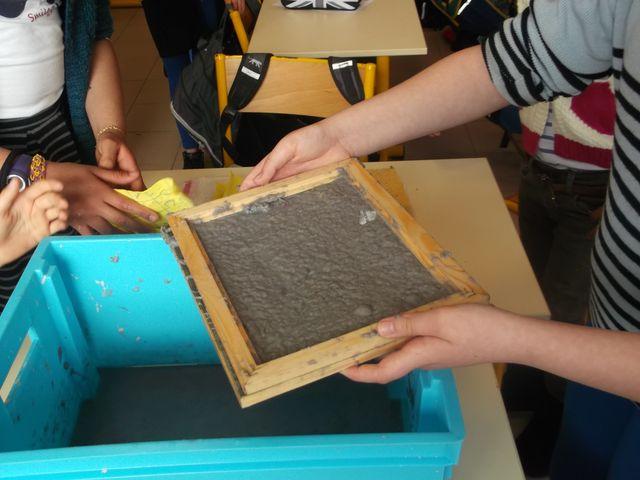 Fabriquation de papier recyclé