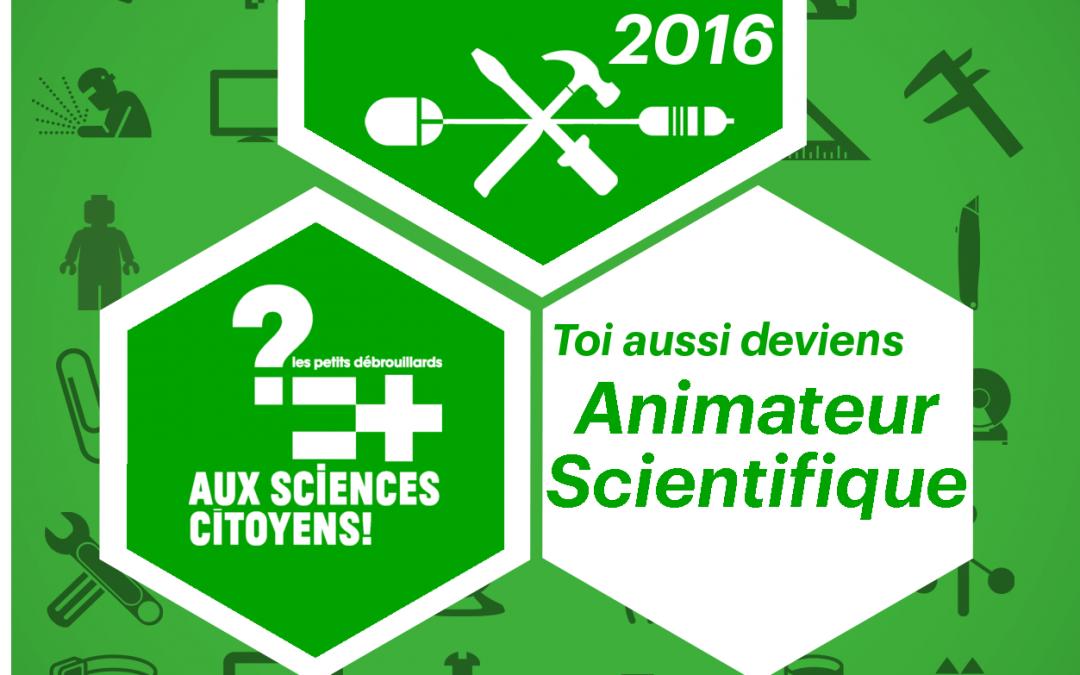 Formation à l'Animation Scientifique : de 18 au 22 avril!
