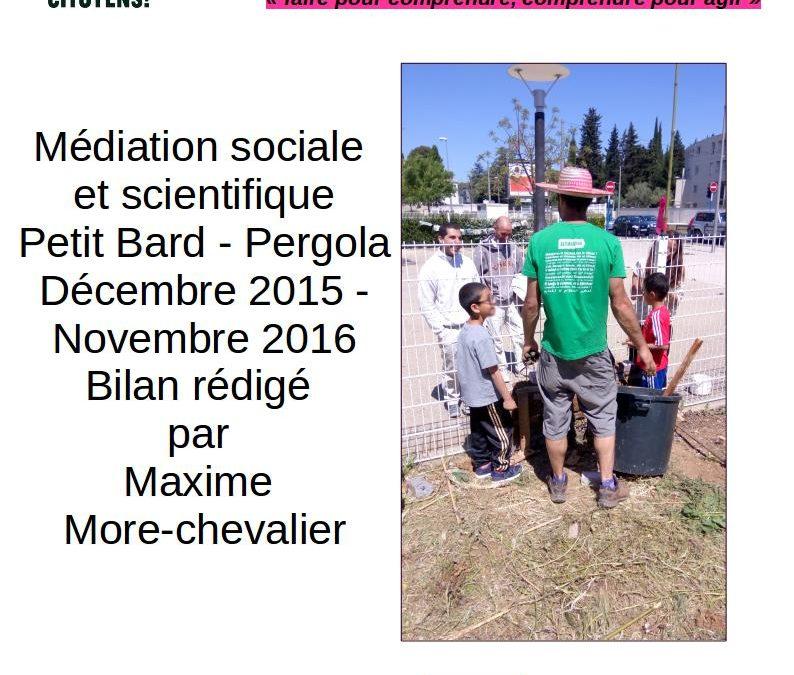 Rétrospective 2016 de la médiation au Petit Bard Pergola à Montpellier